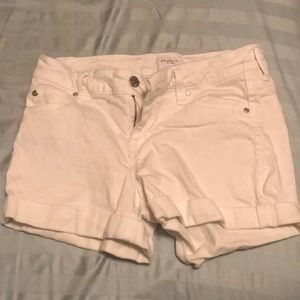 White shorts barely worn